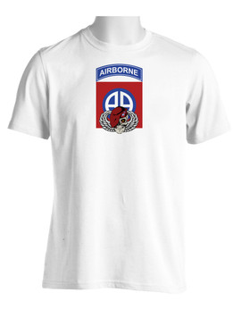 "82nd  Airborne Division ""Skull & Beret""  (Chest) Moisture Wick Shirt"