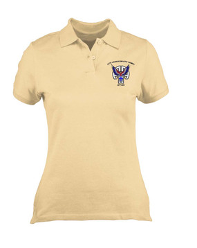 Ladies 325th Airborne Infantry Regiment  Embroidered Moisture Wick Polo Shirt