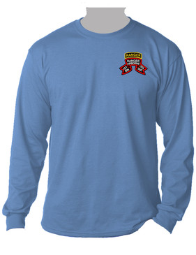 "1-75th Ranger Battalion ""Original Scroll"" w/ Ranger Tab Long-Sleeve Cotton Shirt (Pocket)"