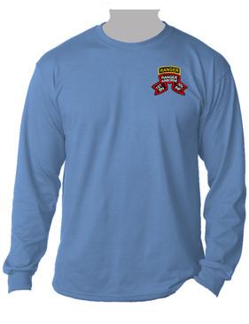 "1-75th Ranger Battalion ""Original Scroll"" w/ Ranger Tab Long-Sleeve Cotton Shirt (Pocket)"