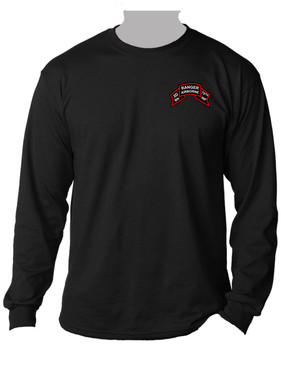 "2-75th Ranger Battalion ""Original Scroll""  Long-Sleeve Cotton Shirt (Pocket)"