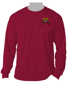 "2-75th Ranger Battalion ""Original Scroll"" w/ Ranger Tab  Long-Sleeve Cotton Shirt (Pocket)"