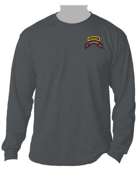75th Ranger Regiment Scroll w/ Ranger Tab Long-Sleeve Moisture Wick (P)