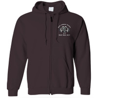 "82nd Airborne Division ""Punisher"" Embroidered Hooded Sweatshirt with Zipper"