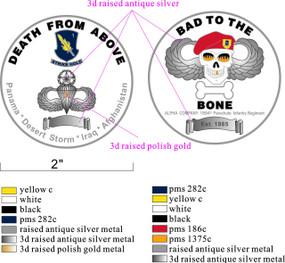 Alpha Company (BONE) 1/504 PIR Challenge Coin