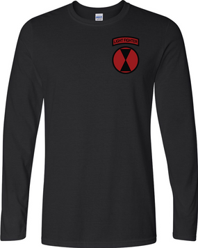 "7th Infantry Division ""LIGHT FIGHTER""  Long-Sleeve Cotton Shirt (P)"