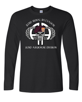 82nd Signal Battalion Long-Sleeve Cotton Shirt (FF)