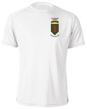 1st Infantry Division w/ Ranger Tab  Moisture Wick Shirt (P)
