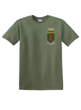1st Infantry Division w/ Ranger Tab  Cotton T-Shirt-(P)