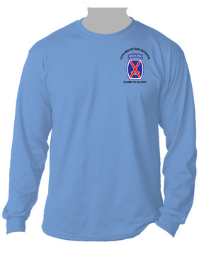 "10th Mountain Division ""Climb to Glory""  Long-Sleeve Cotton Shirt -(P)"