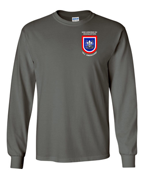 "82nd Hqtrs & Hqtrs Battalion ""Crest & Flash""  Long-Sleeve Cotton Shirt -(P)"