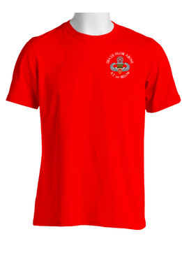 4th Brigade Combat Team (Airborne) w/ Ranger Tab  Cotton T-Shirt-(P)