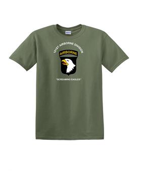 101st Airborne Division Cotton T-Shirt-(FF)