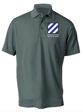 3rd Infantry Division Embroidered Moisture Wick Shirt