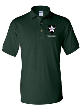 2nd Infantry Division Embroidered Cotton Polo Shirt