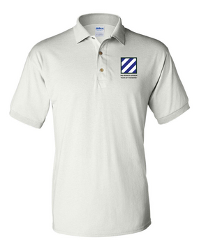 3rd Infantry Division Embroidered Cotton Polo Shirt