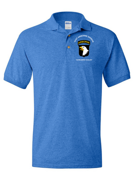 101st Airborne Division Embroidered Cotton Polo Shirt