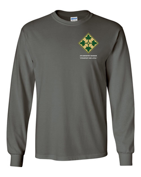 4th Infantry Division Long-Sleeve Cotton Shirt -(P)
