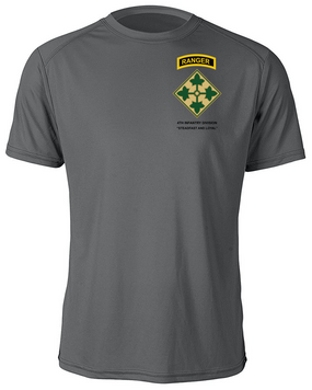4th Infantry Division with Ranger Tab Moisture Wick Shirt -(P)