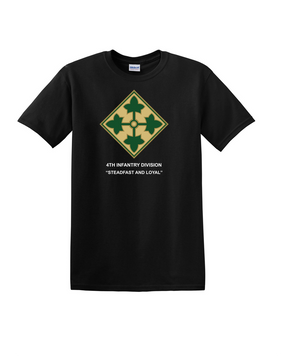 4th Infantry Division Cotton T-Shirt-(FF)