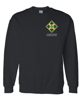 4th Infantry Division Embroidered Sweatshirt