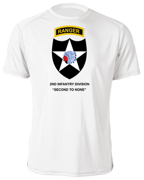 2nd Infantry Division w/ Ranger Tab Moisture Wick Shirt -(FF)
