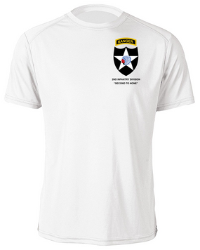 2nd Infantry Division w/ Ranger Tab Moisture Wick Shirt -(Pocket)