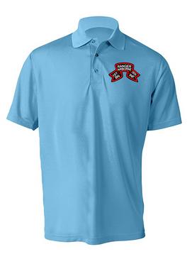 "1-75 Ranger Battalion ""Original Scroll""  Embroidered Moisture Wick Shirt (Paragon)"