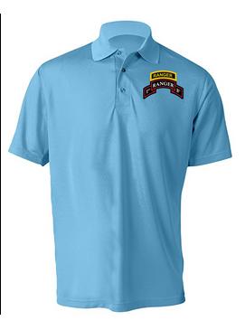 1-75 Ranger Battalion Ranger Tab  Embroidered Moisture Wick Shirt (Paragon)