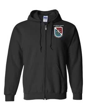 11th Special Forces Group  Embroidered Hooded Sweatshirt with Zipper