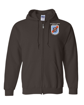 20th Special Forces Group  Embroidered Hooded Sweatshirt with Zipper