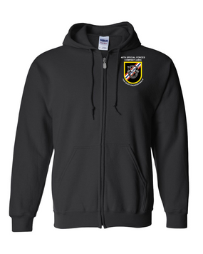 46th Special Forces Group  Embroidered Hooded Sweatshirt with Zipper