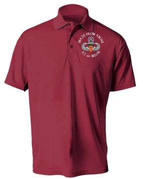 4th Brigade Combat Team (Airborne) Embroidered Moisture Wick Shirt (Paragon)