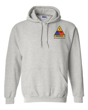 3rd Armored Division Embroidered Hooded Sweatshirt