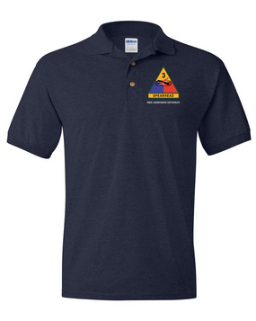 3rd Armored Division Embroidered Cotton Polo Shirt