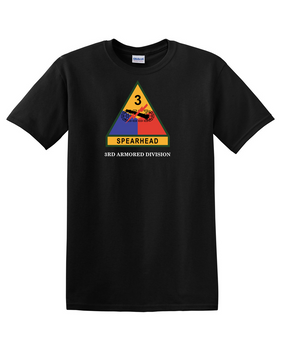 3rd Armored Division  (Chest) Cotton T-Shirt