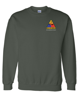 2nd Armored Division Embroidered Sweatshirt