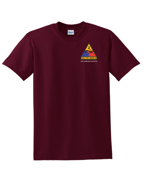 2nd Armored Division (Pocket) Cotton T-Shirt