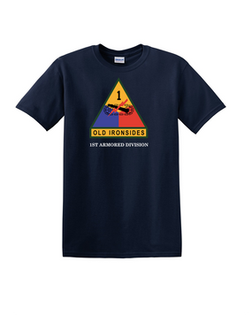1st Armored Division (Chest) Cotton T-Shirt