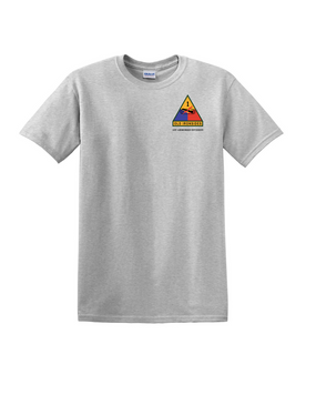 1st Armored Division (Pocket) Cotton T-Shirt