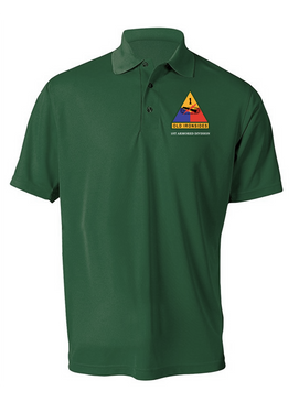 1st Armored Division Embroidered Moisture Wick Shirt (Paragon)
