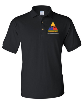1st Armored Division Embroidered Cotton Polo Shirt