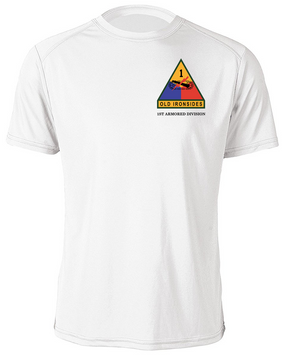 1st Armored Division Moisture Wick Shirt -(Pocket)