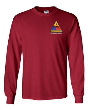 1st Armored Division (Pocket)- Long-Sleeve Cotton Shirt