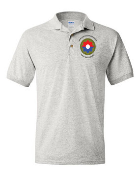 9th Infantry Division Embroidered Cotton Polo Shirt