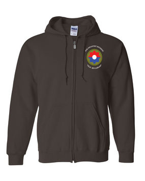 9th Infantry Division Embroidered Hooded Sweatshirt with Zipper