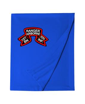 1/75th Ranger Battalion Original Scroll Embroidered Dryblend Stadium Blanket