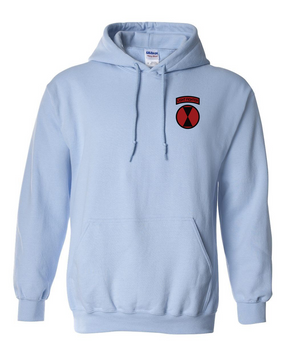 7th Infantry Division Embroidered Hooded Sweatshirt