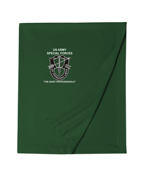 US Army Special Forces Embroidered Dryblend Stadium Blanket