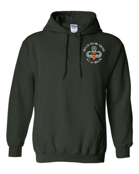 4th Brigade Combat Team (Airborne) w/ Ranger Tab Embroidered Hooded Sweatshirt